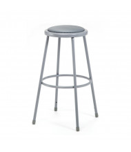 """NPS 30"""" H Padded Round Science Lab Stool"""