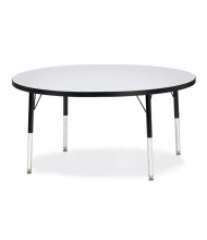 """Jonti-Craft Berries 48"""" D Round Elementary Classroom Activity Table (Shown in Grey/Black)"""