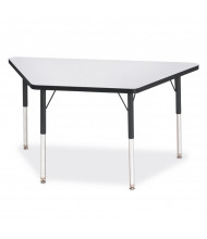 """Jonti-Craft Berries 48"""" W x 24"""" D Trapezoid-Shaped Classroom Activity Table (Shown in Grey/Black)"""