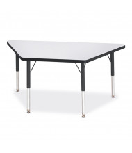 """Jonti-Craft Berries 60"""" W x 30"""" D Trapezoid-Shaped Classroom Activity Table (Shown in Grey/Black)"""