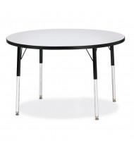 "Jonti-Craft Berries 42"" D Round Classroom Activity Table (Shown in Grey / Black)"