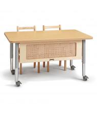 Jonti-Craft STEM Adjustable Mobile Workstation Table