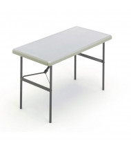 """Iceberg IndestrucTable Too 24"""" x 48"""" Heavy Duty Folding Table (Shown in Platinum)"""