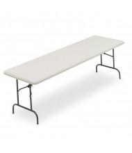 "Iceberg IndestrucTable Too 96"" W x 30"" D Light-Duty Plastic Folding Table"