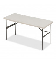 """Iceberg IndestrucTable Too 60"""" W x 24"""" D Heavy-Duty Plastic Folding Table (Shown in Platinum)"""