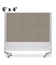 Best-Rite Decorative Laminate 6 x 4 D.O.C. Mobile Divider Reversible, Pewter Mesh