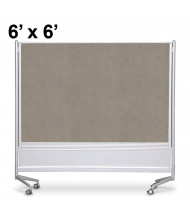 Best-Rite Decorative Laminate 6 x 6 D.O.C. Mobile Divider Reversible, Pewter Mesh
