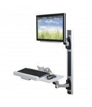 """Balt HG 66644 Single Monitor Adjustable Wall Mount Workstation, Up to 24"""" (example of use)"""