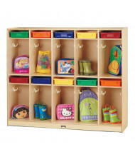 Jonti-Craft Take Home Center 10-Section Cubbie Coat Locker (Plastic Trays Not Included)