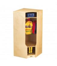Jonti-Craft Corner Cubbie Coat Locker with Step