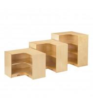 Jonti-Craft Low Inside Corner Classroom Storage (shown between a shorter and taller model)