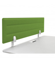 """Iceberg 46"""" W x 15"""" H Acoustic Tackable Felt Desk Privacy Panel (Shown in Green)"""