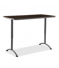 """Iceberg ARC Pin 30"""" - 42"""" H Rectangle Adjustable Table, 30"""" D (Shown in Walnut)"""