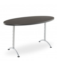"""Iceberg ARC Pin 30"""" - 42"""" H Oval Adjustable Table (Shown in Grey)"""