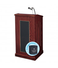 Oklahoma Sound Prestige Wireless Sound System Lectern, Battery (Shown in Mahogany)