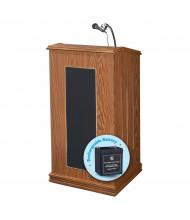 Oklahoma Sound Prestige Full Size Sound System Lectern (Shown in Medium Oak)