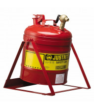 Justrite 7150146 Type I 5 Gallon Tilt Dispensing Safety Can, Red