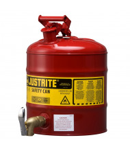 Justrite 7150150 Type I 5 Gallon Shelf Dispensing Safety Can, Red