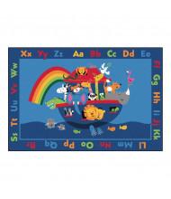 Carpets for Kids Noah Alphabet Animals Rectangle Classroom Rug