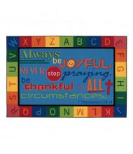 Carpets for Kids Always Be Joyful Circletime Rectangle Classroom Rug