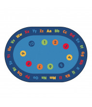 Carpets for Kids Circletime Early Learning Oval Classroom Rug