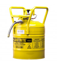 """Type II AccuFlow DOT 5 Gallon Steel Safety Can, 5/8"""" Hose, Yellow"""