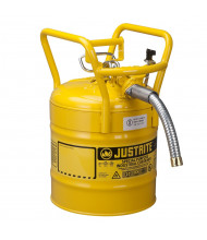 """Type II AccuFlow DOT 5 Gallon 1"""" Hose Roll Bar Steel Safety Can, Yellow"""