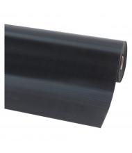 NoTrax 750 V-Groove 3' Wide Rubber Back Runner Floor Protection Floor Mat, Black