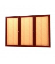 Waddell Messenger 77 Series 3-Door Wall Display Case Message Center 6 x 4 (Shown in Cherry Oak)
