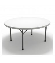 "Mayline Event 60"" Round Plastic Folding Table"