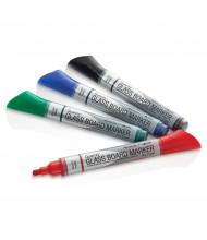 Quartet 79552 Bullet Tip Glass Board Dry Erase Marker Set, Assorted, Pack of 4