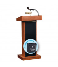Oklahoma Sound Orator Wireless Sound System Lectern, Battery (Shown in Cherry)