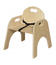 """Wood Designs Woodie 11"""" H Classroom Chair with Belt Strap"""