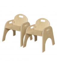 "Wood Designs Woodie 11"" H Classroom Chair, 2-Pack"