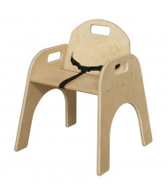 """Wood Designs Woodie 13"""" H Classroom Chair with Belt Strap"""