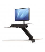 Fellowes Lotus RT Single Monitor Sit-Stand Workstation (Shown in Black)