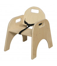 """Wood Designs Woodie 9"""" H Classroom Chair with Belt Strap"""