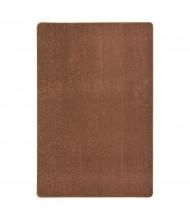 Joy Carpets Endurance Solid Color Classroom Rug, Brown