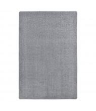 Joy Carpets Endurance Solid Color Classroom Rug, Silver