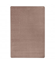 Joy Carpets Endurance Solid Color Classroom Rug, Taupe