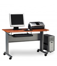 """Mayline Eastwinds 8100TD 57"""" W Laminate Mobile Computer Workstation (Shown in Medium Cherry)"""