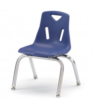 """Jonti-Craft Berries 12"""" H Stacking Chairs with Chrome Legs, 6-Pack (Shown in Blue)"""