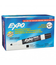 Expo Low-Odor Dry Erase Markers, Bullet Tip, 12-Pack (Shown in Black)