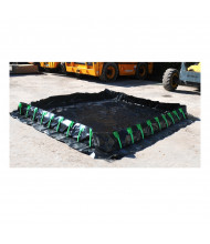 Ultratech Ultra-Containment Stake Wall XR-5 Spill Containment Berms (10 ft. x 10 ft. shown)