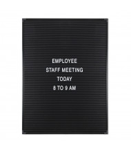 Mooreco Essentials 1.5' x 2' Pin-On Letter Board, Black