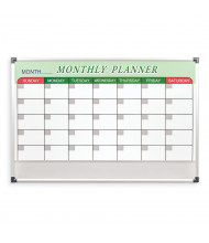 Mooreco Essentials 3' x 2' Magnetic Painted Steel Dry Erase Monthly Planner Board