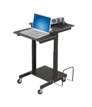 Balt Web 85052 Sit Stand AV Cart Workstation (example of use)