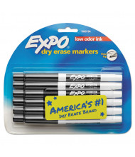 Expo Low-Odor Dry Erase Marker, Fine Point, Black, 12-Pack