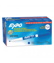 Expo Low-Odor Dry Erase Marker, Fine Point, Blue, 12-Pack