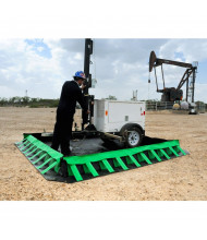Ultratech Ultra-Containment Compact Copolymer 2000 Spill Containment Berms (10 ft. x 10 ft. shown; example of application)